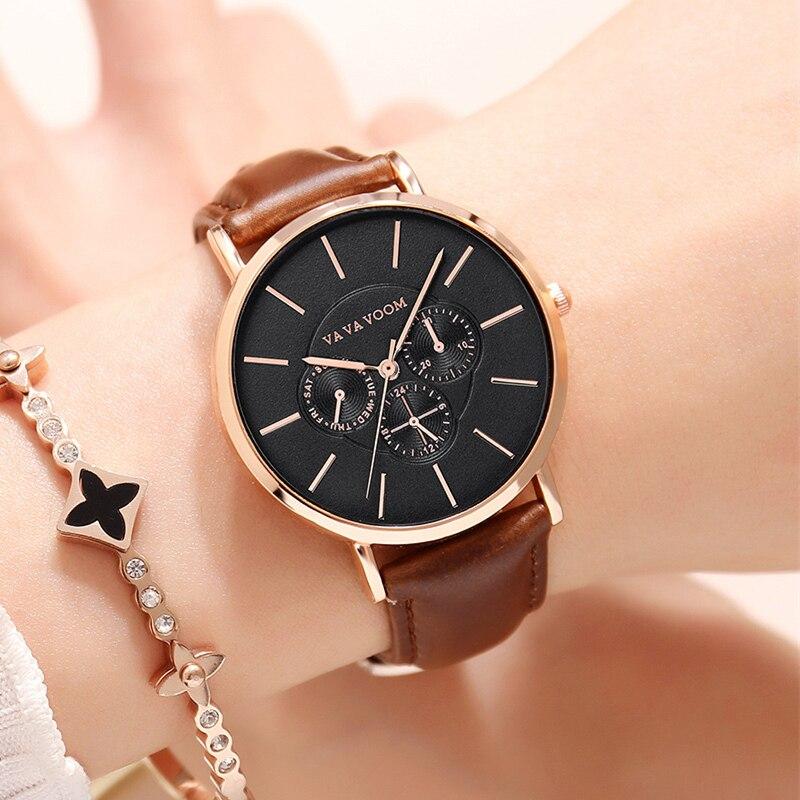 VA VA VOOM Quartz Watch Women Fashion Vestido Casual Dress Girls Watches Womans Wrist Watch For Ladies 2020 Vintage Clock Female