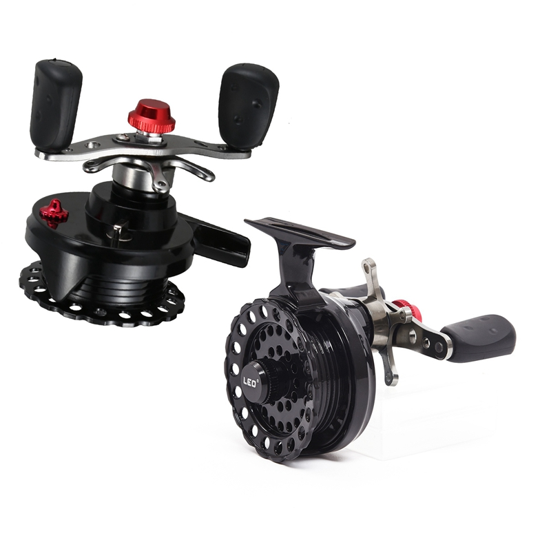 LEO 1 Pair DWS60 4 + 1BB 2.6:1 65MM Fly Fishing Reel Wheel With High Foot Right & Left Hand Fishing Reel Wheels