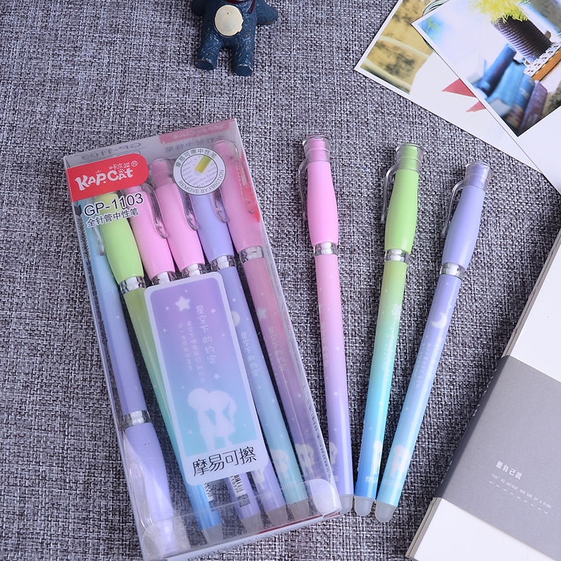 1pcs 0.38mm Erasable Pen Gel Pen With Cartridge Sales Gifts Boutique Student Stationery Office Pen Writing Middle School