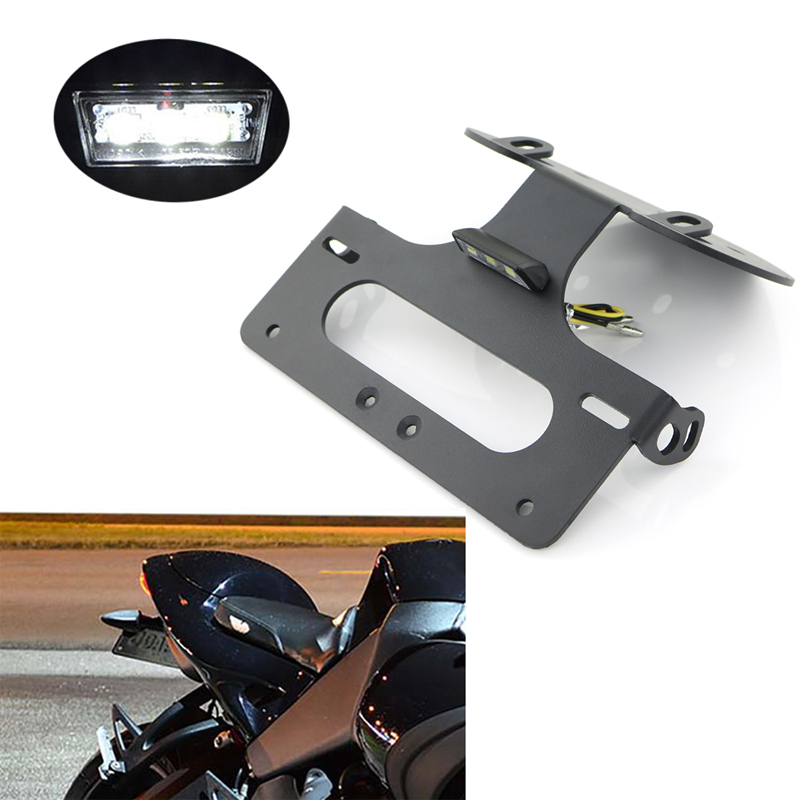 For <font><b>Buell</b></font> <font><b>1125</b></font> R <font><b>1125</b></font> CR 2008-2011 Motorcycle Number License Plate Holder Frame Rear Tail Tidy Fender Eliminator kit image