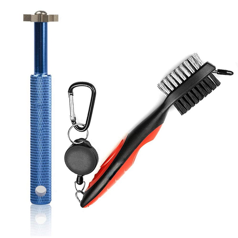 TOP!-Golf Groove Sharpener Tool Golf Club Groove Sharpener And Retractable Golf Club Brush For Golfers Practical And Clean Kits