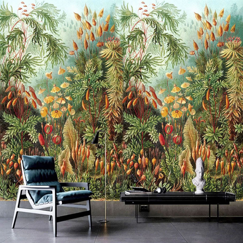 Custom Mural Wallpaper 3D Tropical Forest Wall Painting Living Room Dining Room European Style Home Decor Wall Papers For Walls