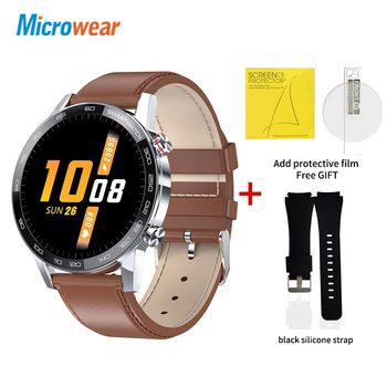 Microwear L16 Smart Watch Men Sports Fitness Tracker IP68 Waterproof Heart Rate Monitor Android IOS Full Touch Screen Smartwatch 17