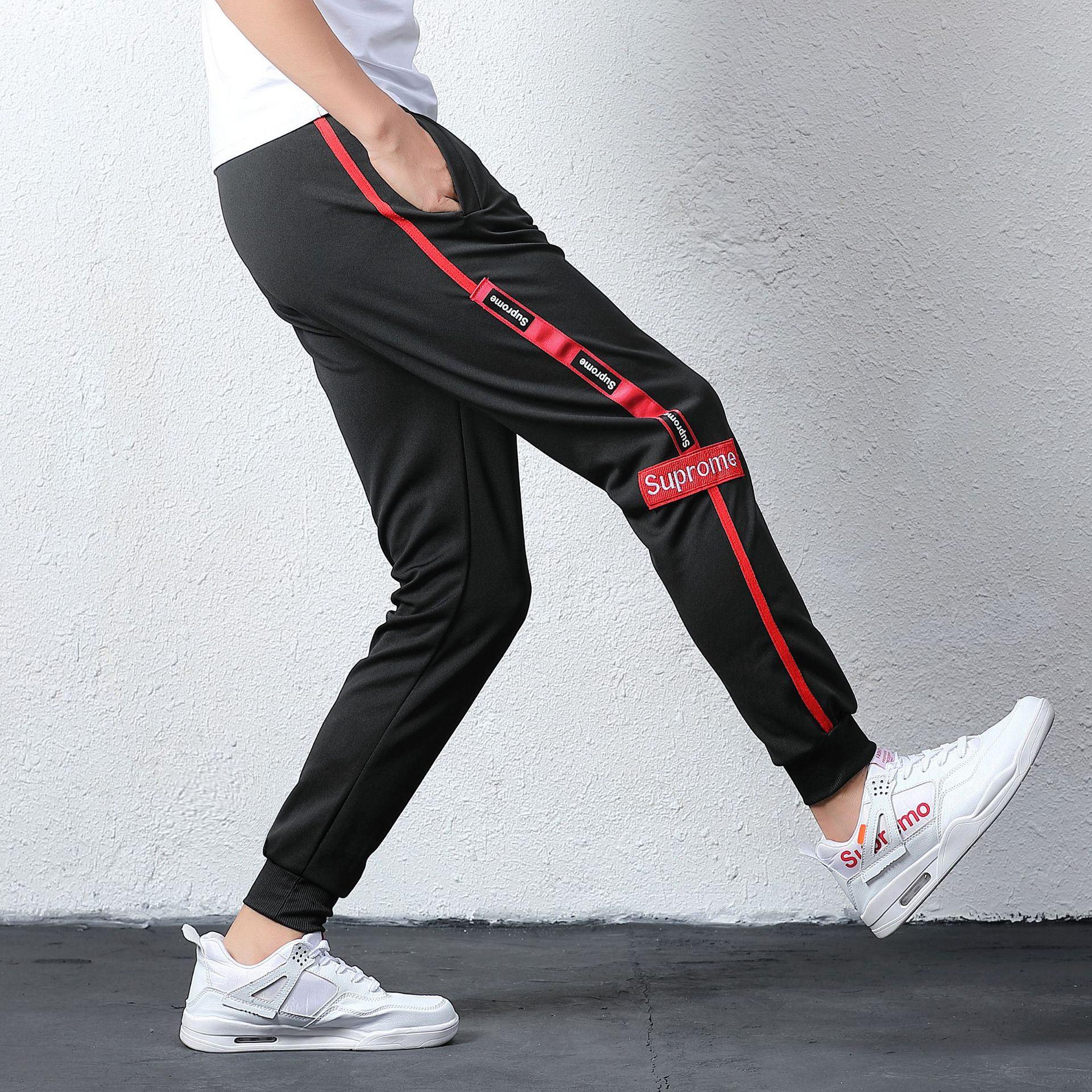 Spring New Style Men Casual Athletic Pants Skinny Harem Long Pants Men's Cool Slim Fit Versatile