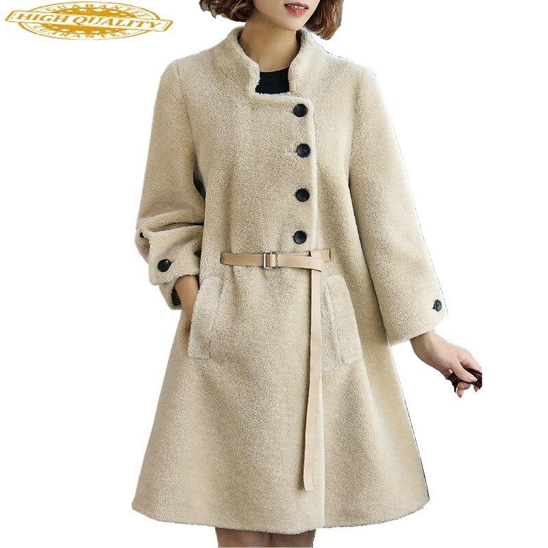 Real Wool Jacket Female Sheep Shearing Fur Coats 2020 Korean Fashion Women Fur Coat Warm Winter Jackets Outwear 213