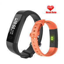 New Smart Wrist Band Fitness Top Watch Pedometer Calorie Bracelet Sleep Pedometer Heart Rate Monitor Men's Smartwatch Men(China)