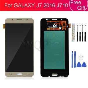 Image 1 - Super AMOLED For SAMSUNG GALAXY J7 2016 J710 LCD Display Touch Screen Digitizer Replacement Parts J710F SM J710F J710FN LCD