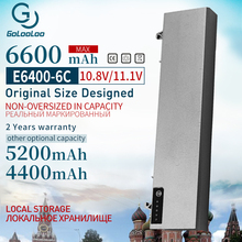 Golooloo 6 Células 11.1v Bateria Nova para Dell Latitude E6400 M2400 E6410 E6510 E6500 312 0215 312 0748 312 0749 M4400 M4500 1M215