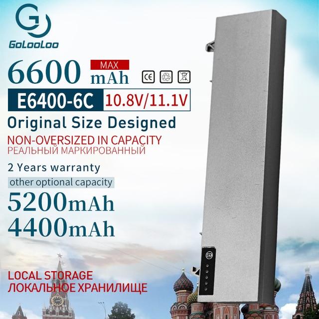 Golooloo 6Cells 11,1 v Neue Batterie für Dell Latitude E6400 M2400 E6410 E6510 E6500 312 0215 312 0748 312 0749 M4400 M4500 1M215