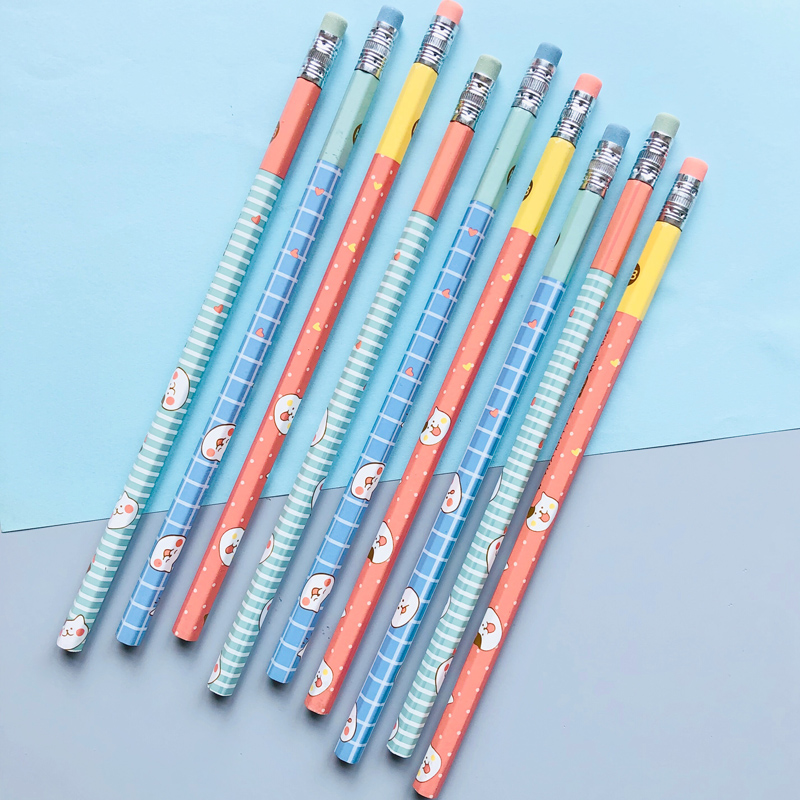 4X Lovely Little Cats HB Standard Wooden Pencil Student Stationery Writing Drawing Pencils