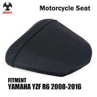 Motorcycle Street Bike Rear Passenger Cushion Leather Seat Cover For YAMAHA YZFR6 YZF R6 2008 2009 2010 2011 2012 2013 2014-2016