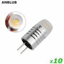 10 шт./лот, алюминиевая лампа с регулируемой яркостью G4 LED 1 Вт, лампа постоянного тока 12 В, светодиодная лампа, заменяющая 20 Вт 30 Вт галогенные ...