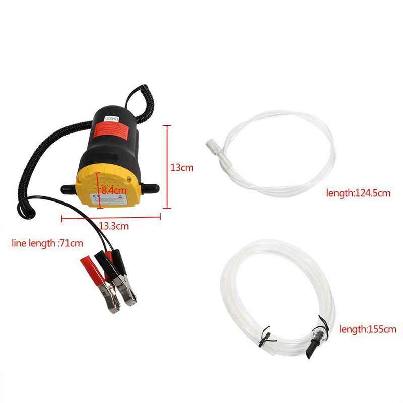 12 в 60 Вт масло/Сырая нефть жидкость отстойник экстрактор отсасывающий обмен насос всасывающий насос + трубы для авто лодочный мотор
