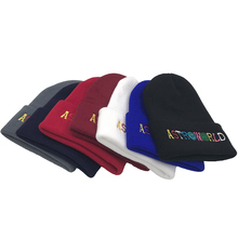 Fashion Funny ASTROWORLD Embroidery Beanie Warm Winter Unisex Skullies
