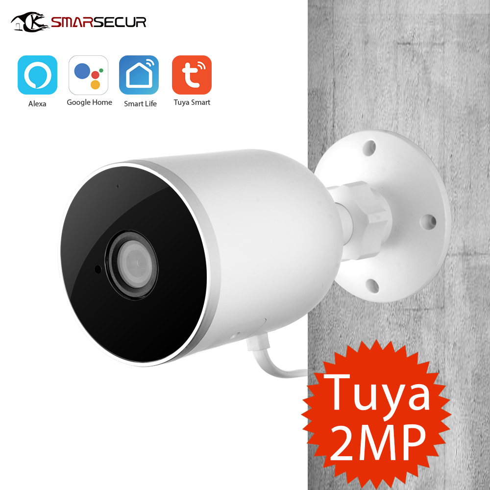 Tuya vie intelligente WiFi IP caméra 1080P sécurité à domicile caméra extérieure Vision nocturne infrarouge Audio bidirectionnel