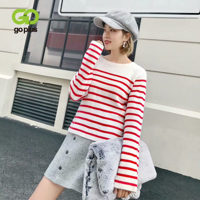 GOPLUS Clothing Women's Sweater jumper Striped Back Bow Tie Pullovers Sweaters For Women Chompas Para Mujer Pull Femme C8086-in Pullovers from Women's Clothing on AliExpress - 11.11_Double 11_Singles' Day 1