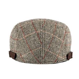 Image 2 - גברים של Newsboy כומתה נהג כובעי משובץ גטסבי כובע קיסוס נהיגה גולף המוניות גברים סתיו כובע כפה