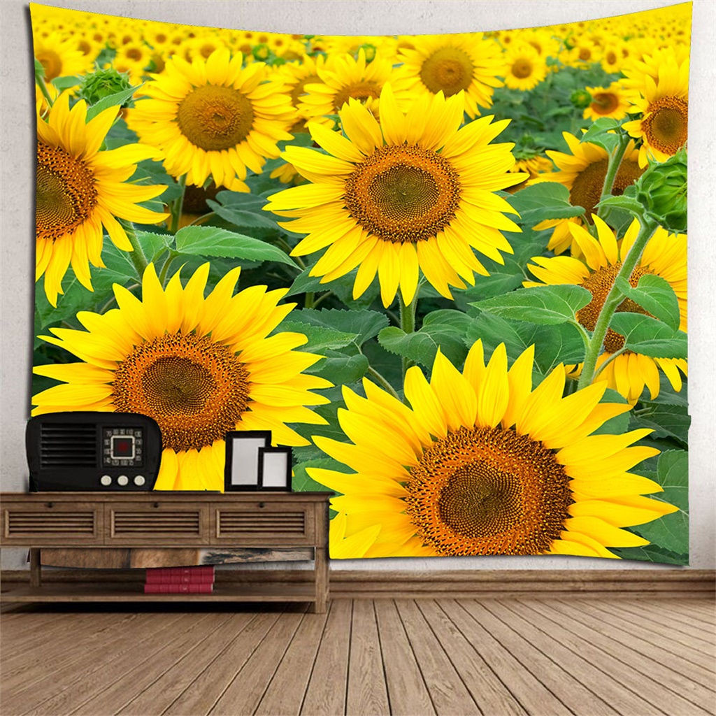 Painting Sunflower Tapestry Wall Hanging Flower Bedspread Tapestries Home Decor