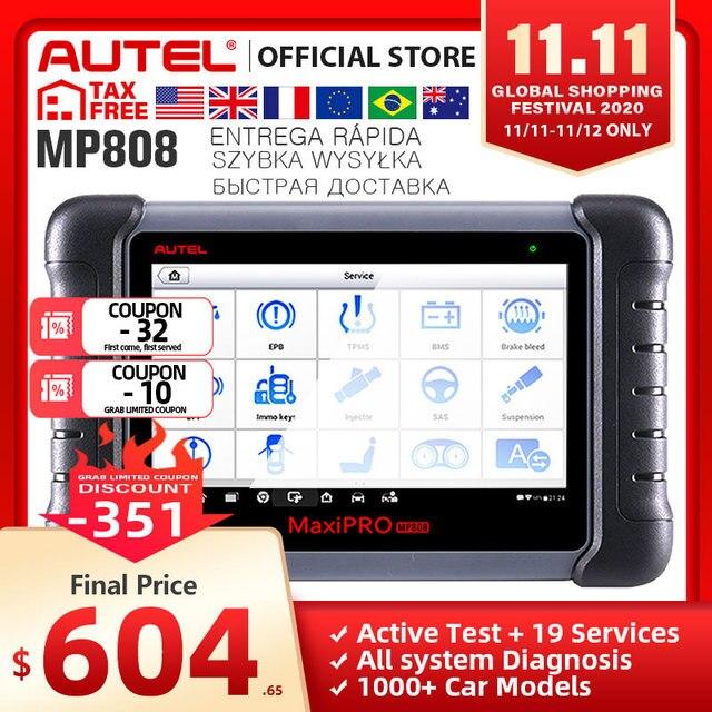 Autel MaxiPRO MP808 OBD2 רכב סורק OBDII כלי אבחון קוד Reader סריקת כלי מפתח קידוד כמו Autel MaxiSys MS906 DS808