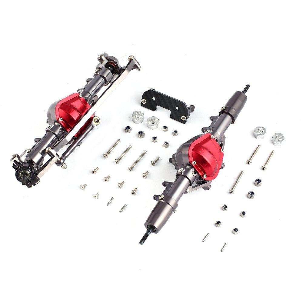 Piezas de Repuesto Combo de accesorios, conjunto de eje delantero y trasero de aleación de Metal para coches 1/10 D90 RC4WD Yota II RC