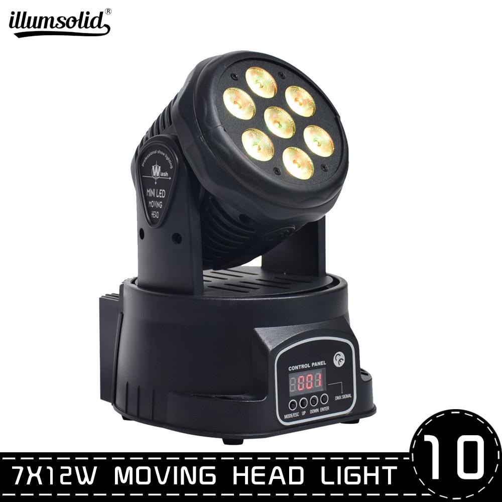 Mobile Head Led Wash 7x12w Rgbw China Moving Head Light/dj Equipment Powerful Mini Moving Light Dj Light(10pcs/lot)