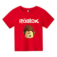 Boys Roblox Print Girls Funny T-Shirts Costume Children 2021 Summer Clothing Kids Clothes Baby Tshirts Sweatshirt