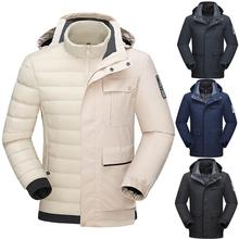 2020 Men's Winter 3 in 1 Ski Jackets Outdoor Sports Hiking Skiing Snowboard two-piece down liner detachable Windproof warm Coats waterproof liner detachable 3 in 1 hooded winer jackets men sport coats fishing ski camping hiking jacket outdoor parka t1689