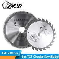 XCAN 1pc diámetro 160-210mm Mulitpurpose TCT hoja de sierra Circular para trabajar la madera disco de corte con punta de carburo Sierra de madera hoja