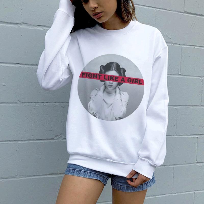 Hoodies Sweatshirt Autumn Winter GRL PWR Girl Power Feminism 90s Long-sleeved Kpop Vogue Harajuku Cartoon Print Pullovers Women