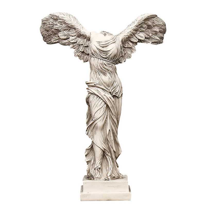 Vintage Abstract Goddess Statues Resin Ornaments Home Decoration Victory Goddess Figurine Sculpture Angel Wings Miniature Model