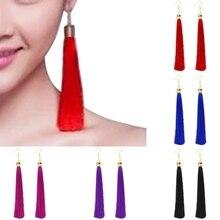 цена на 1 Pair Vintage Long Tassel Dangle Earrings Thread Fringe Drop Earring For Women