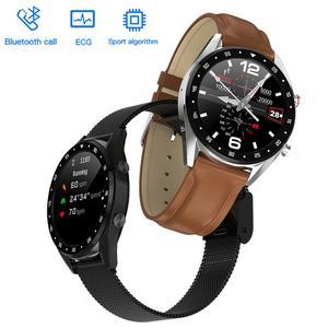 Image 2 - LEMDIOE reloj inteligente deportivo 2019, resistente al agua, con ecg y bluetooth para android y huawei, ip68 y control de la presión sanguínea para hombre