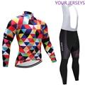 2020 зимний клетчатый комплект для велосипедной команды из джерси и велосипедных штанов 9D, Мужская теплая флисовая одежда для велоспорта Ropa ...