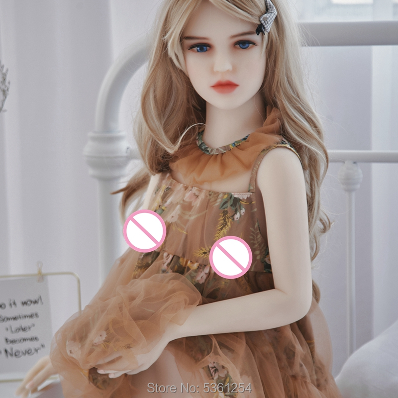 Small Breast Silicone Sex Doll 128CM TPE Realistic Pussy Anal Oral Love Toy Skeletons White Skin Color Sexdolls For Men