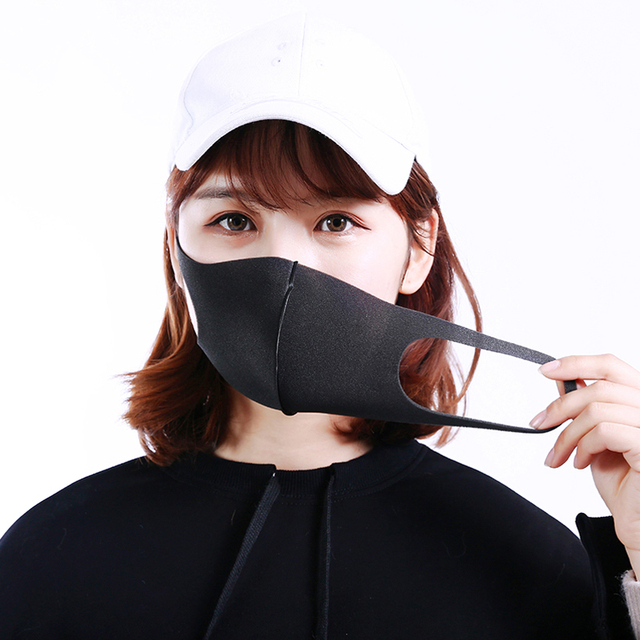3 Layers Anti-Dust Mask Washable Mouth Mask Kids Adult Face Mask Outdoor Mouth Mask Facial Respirator flu-proof Black Mask