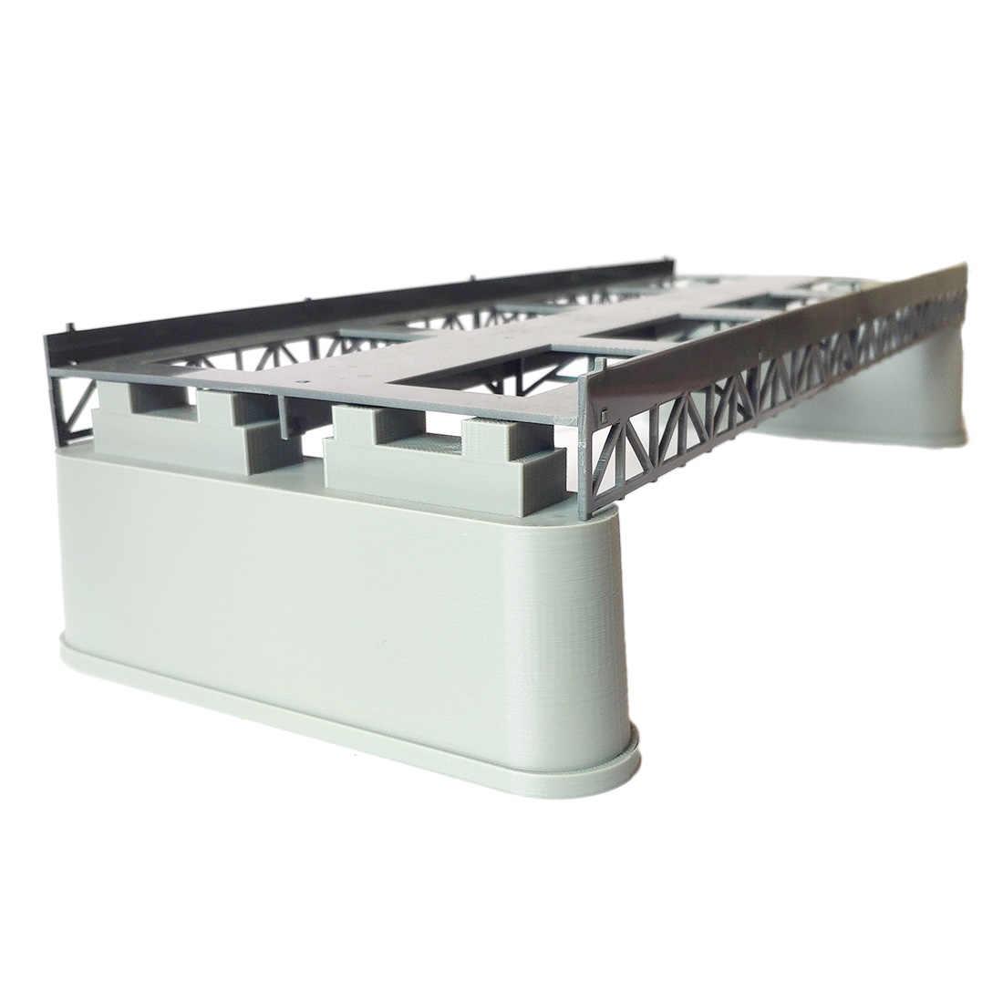 NFSTRIKE 1Pc 1: 87 HO skala pociąg kolejowy klimatyczna dekoracja T34A podwójna ścieżka molo Model dla piasku akcesoria stołowe DIY