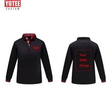 YOTEE 2019 Custom Uniform Company Group Team Shirt Print Photo/Logo Colo custom polo shirt Long Sleeve Women and Men men