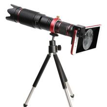 36X 4K HD Zoom Óptico Lente Da Câmera Telefoto Telescópio Escopo com Tripé Clipe Telefone Lente Do Telefone Móvel Para Samsung iphone Huawei