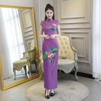Traditional Daily Modern Cheongsam Chinese Dress Short Sleeve Wedding Qipao Chinoise Vestidos Size S 3XL