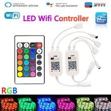 Magic Home RGB Wifi Led Controller 12V Tape LED Music Alexa controller 5V For 5050 2835 3528 5630 3014 led-strip Dimmer 24V