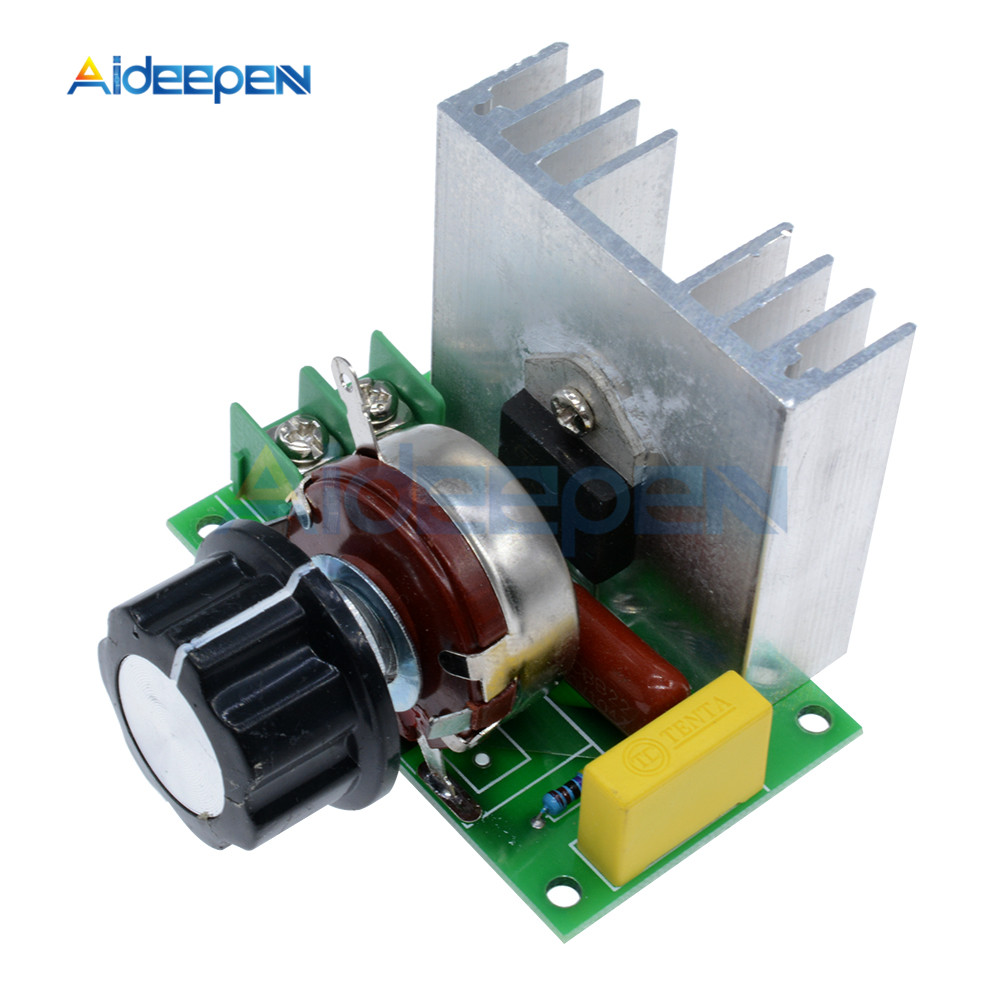 AC 220V 4000W High Power SCR Speed Controller Electronic Volt Regulator Motor Governor Dimmer Module For Thermostat Dimming