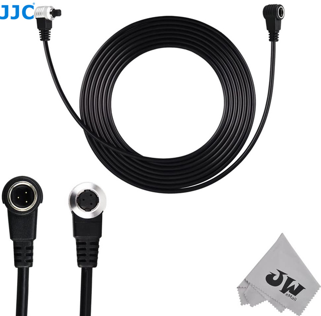 JJC uzaktan uzatma kablosu kablosu Canon EOS 5D Mark III II 6D 7D Mark II 1D Mark II III IV 1Ds Mark II 5DS R değiştirin ET 1000N3