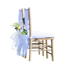 Fast Shipping 50/100pcs Organza Wedding Chair Sashes Wedding Chair Knot for Wedding Party Decoration Hotel Supplies
