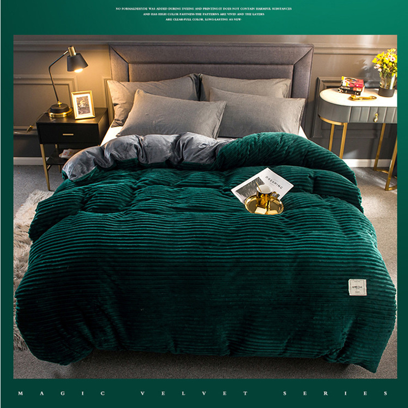دروبشيبينغ الشتاء لينة الدافئة الأحمر الأصفر المرجان المخملية لحاف غطاء السرير قطعة واحدة الفانيلا سماكة الدافئة حاف غطاء الفراش