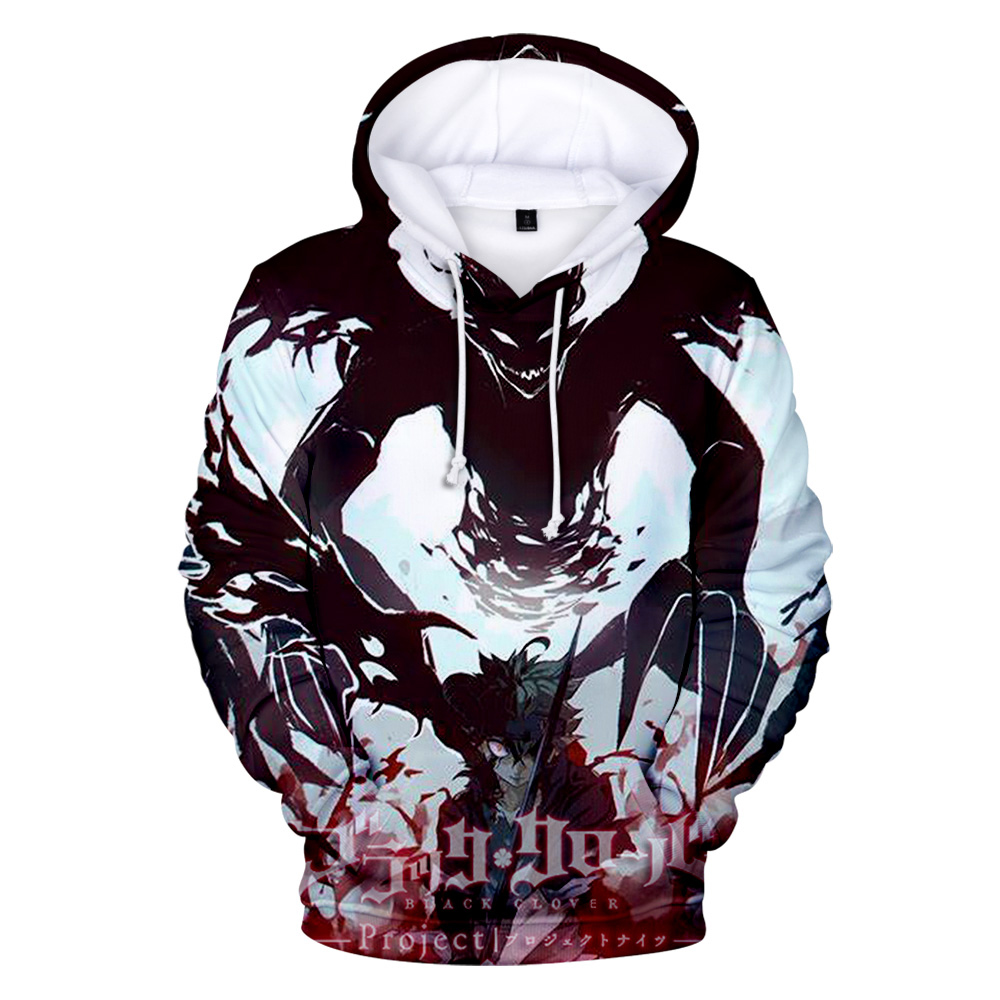 Japan Anime Black Clover 3D Hoodies Sweatshirt Boys/girls Fashion Autumn Winter Pullovers Long Sleeve Confortable Outwear Hoodie