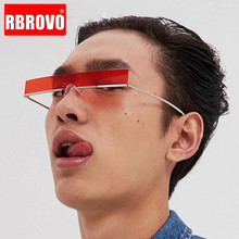 RBROVO 2019 Fashion Rectangle Sunglasses Men Vintage Brand D