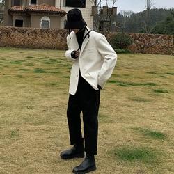 Gli Uomini Del Giappone di Stile Della Corea Dell'annata di Velluto a Coste Casual Vestito Del Cappotto Della Tuta Sportiva Delle Donne di Sesso Maschile Streetwear Primavera Autunno Blazer Giacca Cappotto