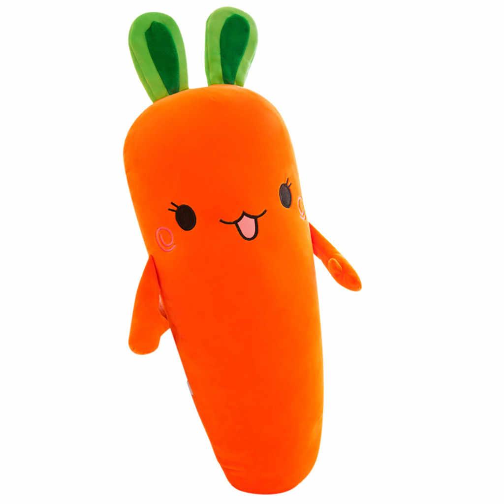 Kartun Senyum Wortel Mainan Mewah Simulasi Lucu Sayuran Wortel Boneka Bantal Stuffed Mainan Lembut untuk Anak-anak Hadiah # G5
