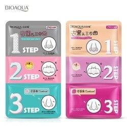 1 pieza BIOAQUA Beauty mascarilla para nariz de cerdo eliminar la espinilla removedor de acné Clear Black Head 3 Step Kit cuidado de la piel cosmética coreana