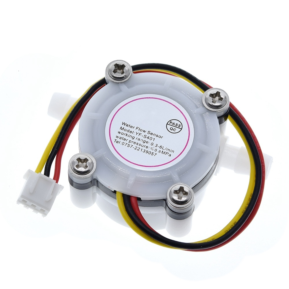 New Hot Water Coffee Flow Sensor Switch Meter Flowmeter Counter 0.3-6L/min YF-S401